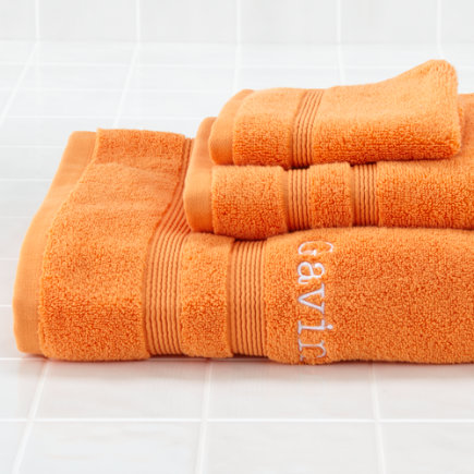 Personalized Orange Fresh Start Bath Towel