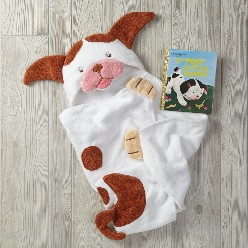 Poky Little Puppy Hooded Towel Bath Set