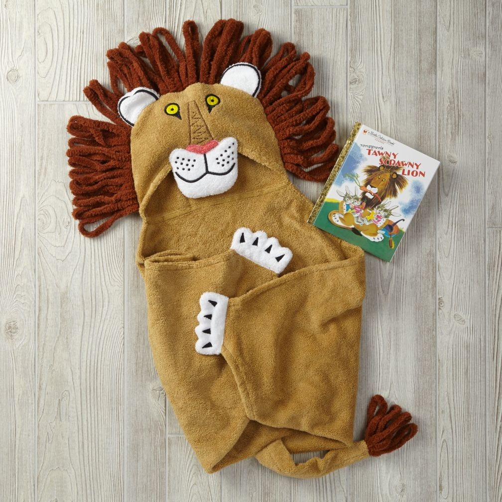 Tawny Scrawny Lion Hooded Towel Bath Set