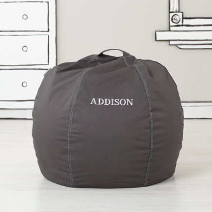 30 Grey Personalized Bean Bag Chair  (includes Cover and Insert)