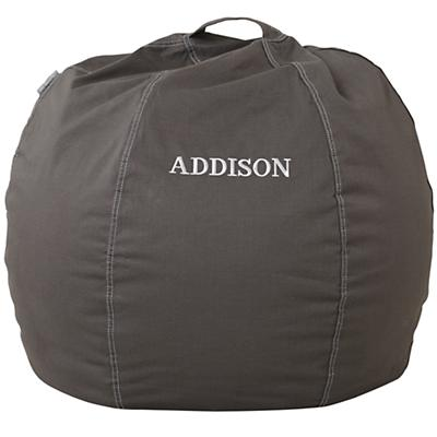 "30"" Personalized Bean Bag  Chair Cover (Grey)"