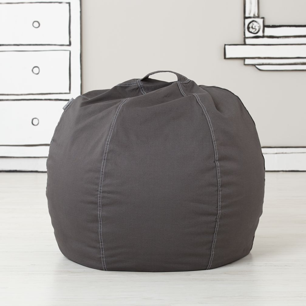 30 Quot Bean Bag Chair Cover Grey The Land Of Nod