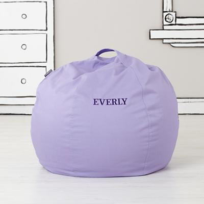 "30"" Personalized Bean Bag Chair Cover (Lavender)"