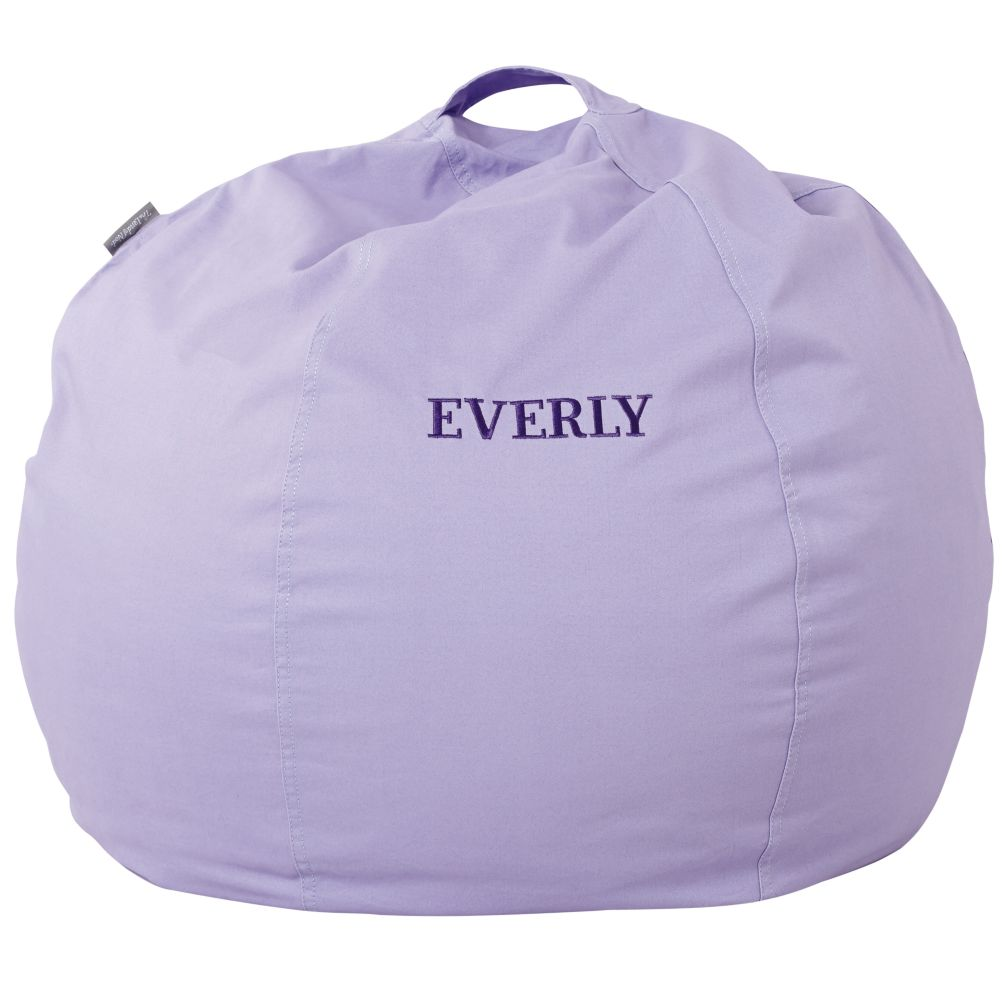"30"" Personalized Bean Bag Chair Cover (New Lavender)"