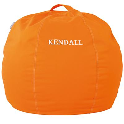 "30"" Personalized Bean Bag Chair Cover (Orange)"