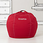 "30"" Red Personalized Bean Bag Chair Cover"