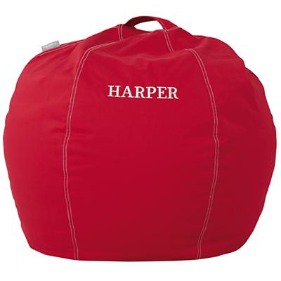 "30"" Personalized Bean Bag Chair Cover (New Red)"