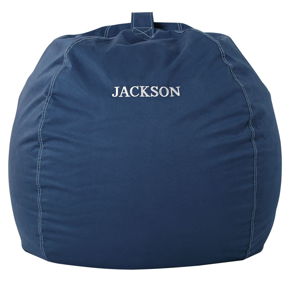 "40"" Personalized Bean Bag Chair Cover (Dk. Blue)"