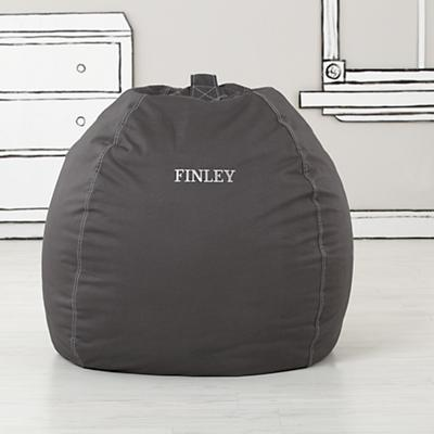 """40"""" Personalized Bean Bag Cover (Grey)"""
