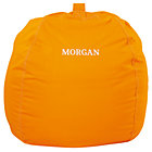 "40"" Orange Personalized Ginormous Bean Bag Chair Cover"