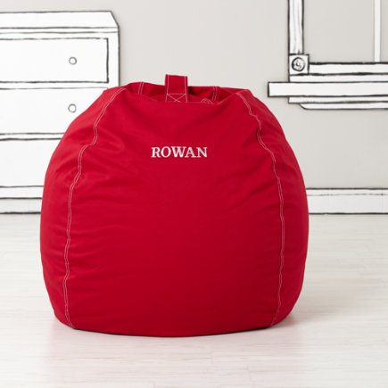 40 Personalized Red Bean Bag Chair(includes Cover and Insert)