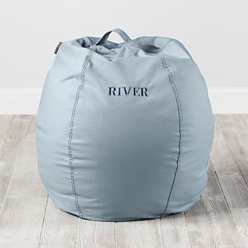 "Personalized 30"" Cool Beans! Bean Bag Chair (Lt. Blue)"