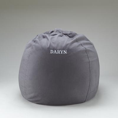 """40"""" Personalized Ginormous Beanbag Cover (Grey)"""