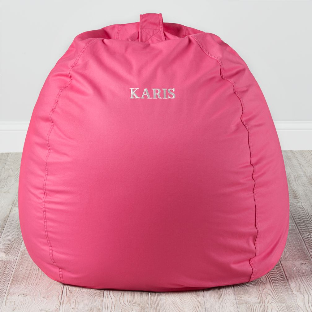 40 Quot Ginormous Bean Bag Chair Dk Pink The Land Of Nod