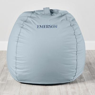 "Personalized 40"" Ginormous Bean Bag Chair (Lt. Blue)"
