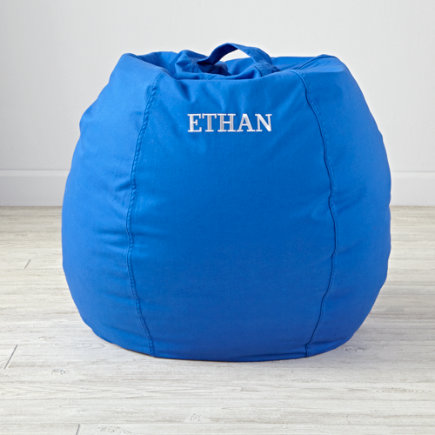 30 Blue Bean Bag Chair - Personalized 30 Cool Beans! Blue Bean Bag Chair