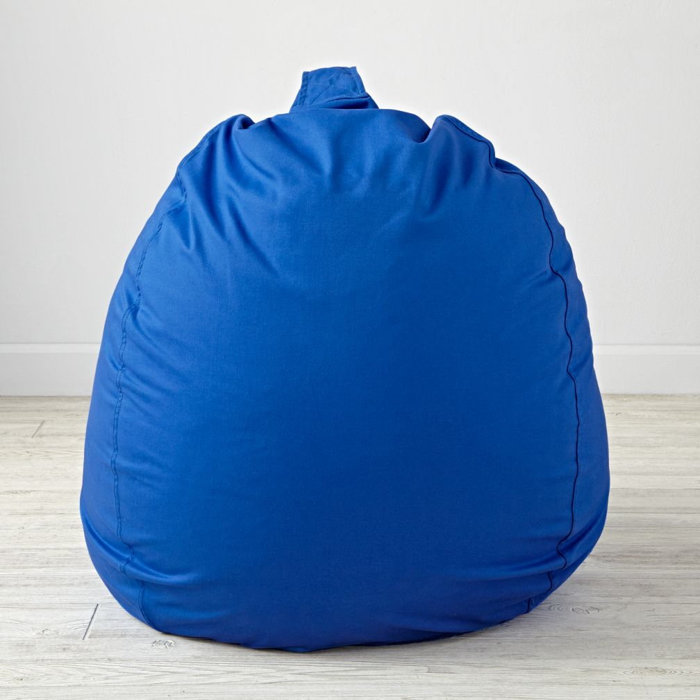 "40"" Ginormous Blue Bean Bag Chair Cover"