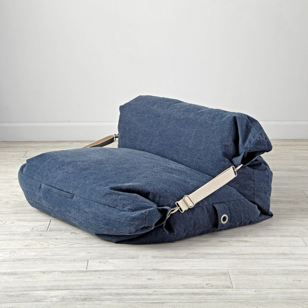Adjustable Blue Bean Bag Chair