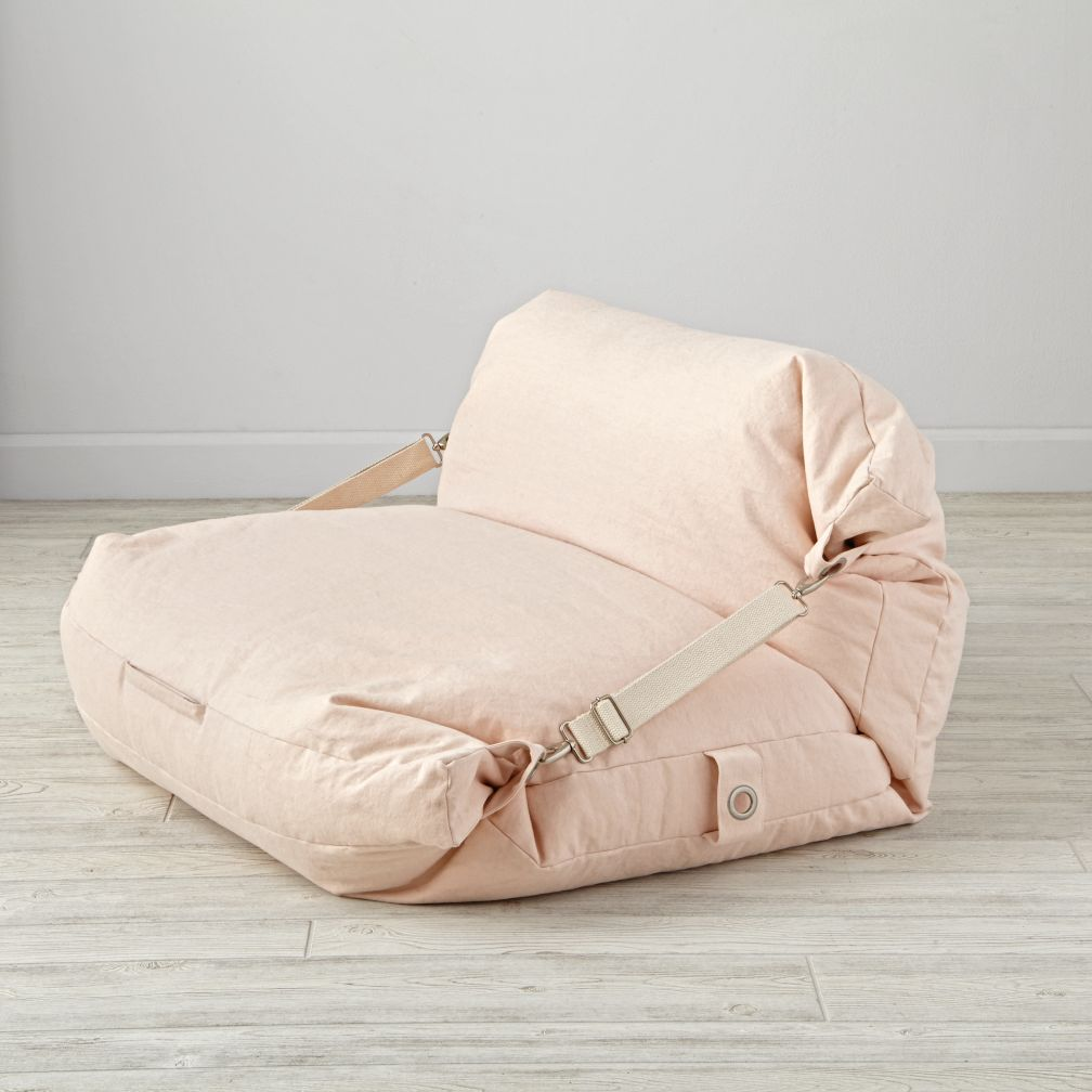 Kids Pink Bean Bag Bed Chair The Land Of Nod