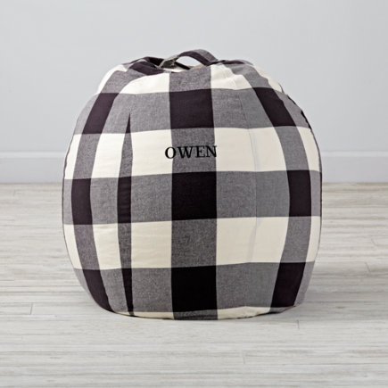 30 Buffalo Check Bean Bag Chair - 30 Buffalo Check Personalized Bean Bag Chair(Includes Cover and Insert)