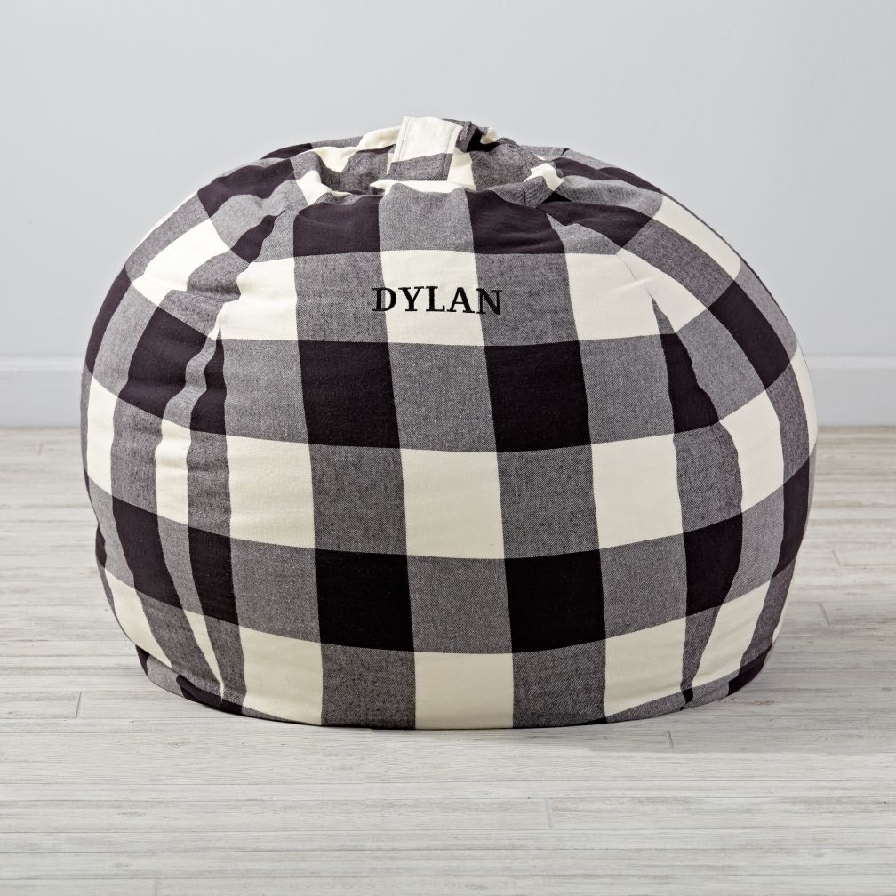 "40"" Buffalo Check Personalized Bean Bag Chair Cover"
