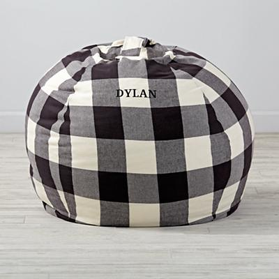 "40"" Buffalo Check Personalized Bean Bag Chair"