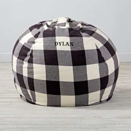 40 Buffalo Check Bean Bag Chair - 40 Buffalo Check Personalized Bean Bag Chair(Includes Cover and Insert)