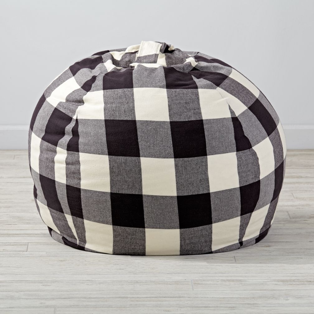 "40"" Buffalo Check Bean Bag Chair"