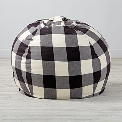 "40"" Buffalo Check Bean Bag Chair Cover"