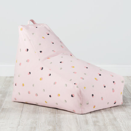 Bean Bag Lounger (Pink) - Pink Bean Bag Lounger