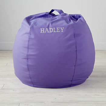 "Personalized 30"" Cool Beans! Purple Bean Bag Chair"