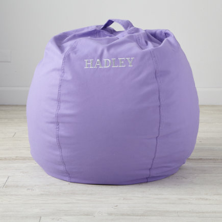30 Purple Bean Bag Chair - Personalized 30 Cool Beans! Purple Bean Bag Chair(Includes Cover and Insert)