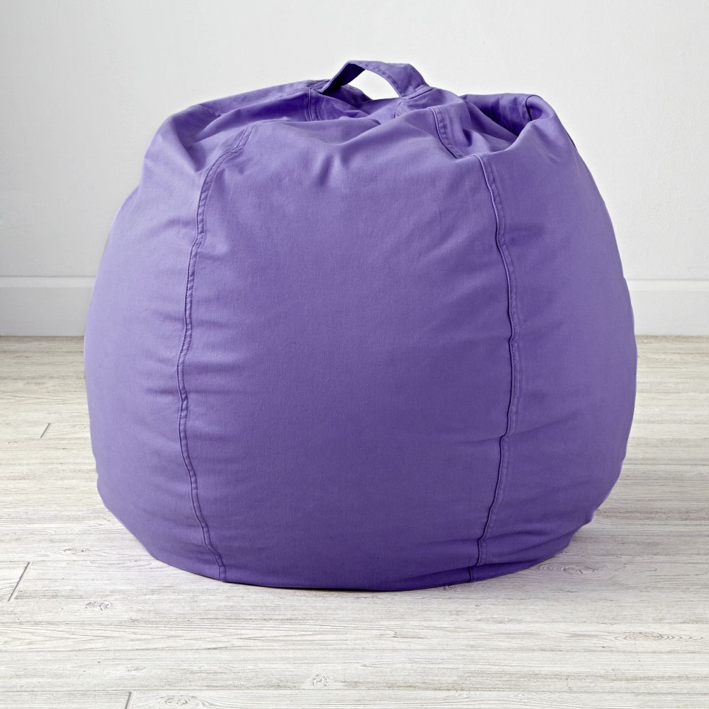 "30"" Cool Beans! Purple Bean Bag Chair Cover"