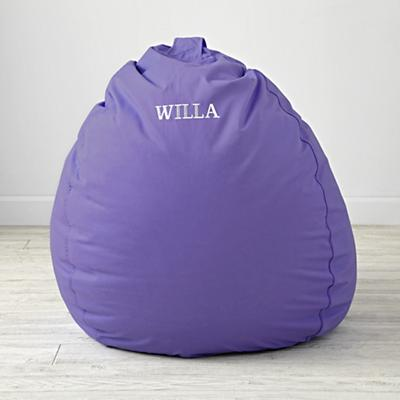 "Personalized 40"" Ginormous Purple Bean Bag Chair Cover"