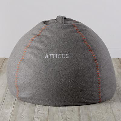 "Personalized 40"" Heathered Sweatshirt Bean Bag Chair Cover"