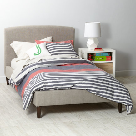 Zuma Feather Twin Upholstered Bed
