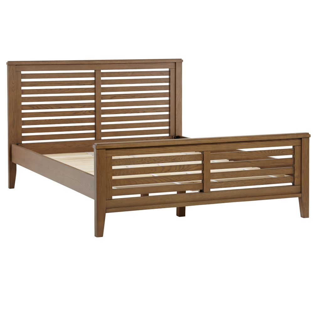 Queen Bayside Slatted Bed (Cocoa)