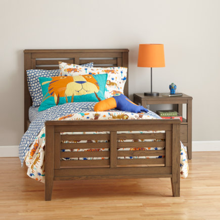 Twin Cocoa Bayside Slatted Bed