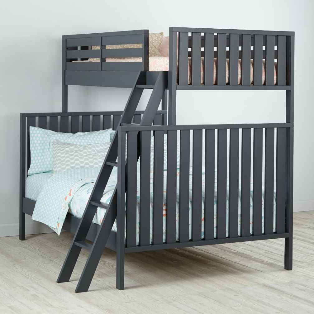 Cargo Twin Over Full Bunk Bed (Charcoal)