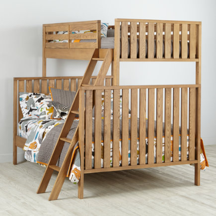 Twin over Full Cargo Bunk Bed (Natural) - Natural Cargo Twin Over Full Bunk Bed