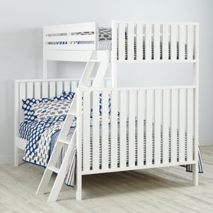 Twin over Full Cargo Bunk Bed (White) - White Cargo Twin Over Full Bunk Bed