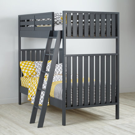 Twin over Twin Cargo Bunk Bed (Grey) - Charcoal Cargo Bunk Bed