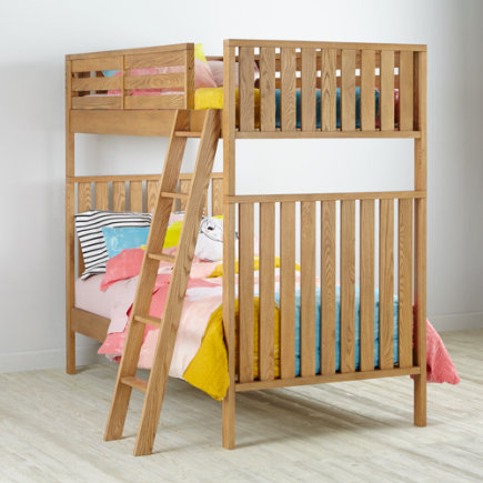Twin over Twin Cargo Bunk Bed (Natural) - Natural Cargo Bunk Bed