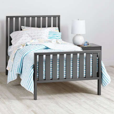 Cargo Kids Twin Bed (Grey) - Twin Charcoal Cargo Bed