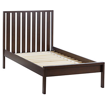 Twin Cargo Low Footboard Bed (Java)