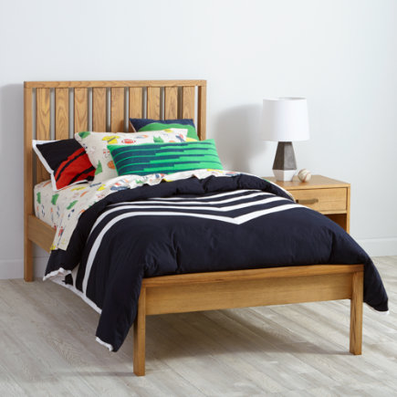Twin Natural Cargo Low Footboard Bed