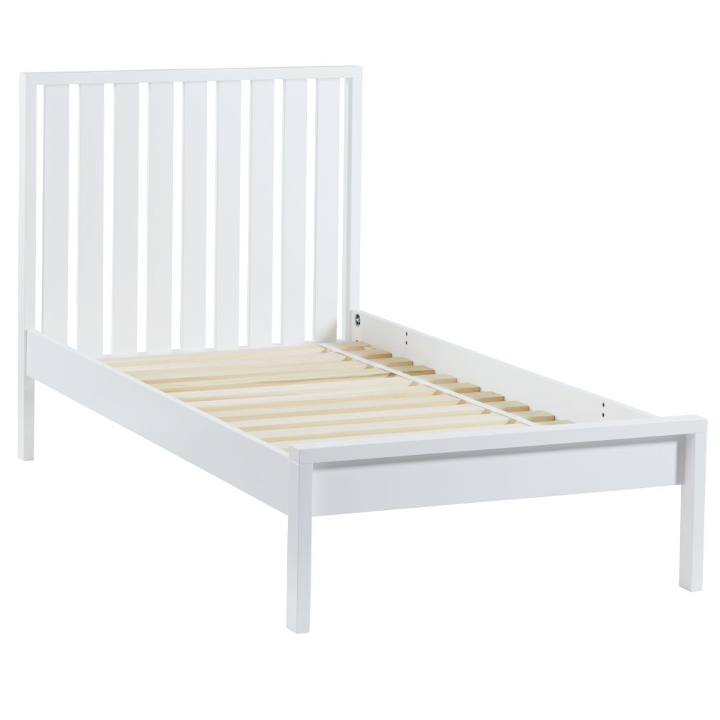 Twin Cargo Low Footboard Bed (White)
