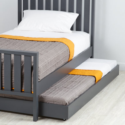 Cargo Trundle Bed (Grey) - Charcoal Cargo Trundle Bed