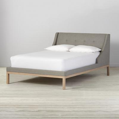Gallery Grey Upholstered Wing Full Bed