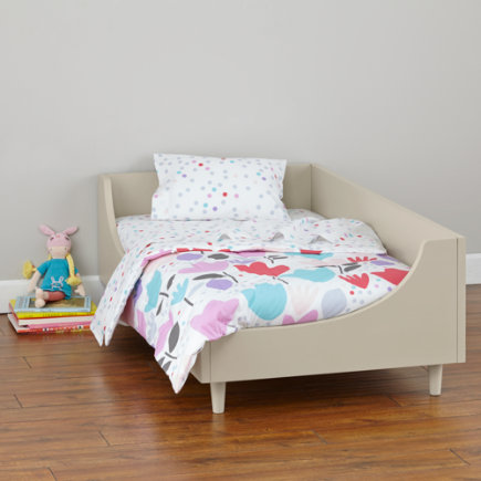 Hampshire Modern Arched Toddler Bed (Stone) - Stone Hampshire Toddler Bed